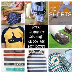 Sewing kids clothes, baby sewing, sewing for kids, diy clothes, free sewing Sewing Kids Clothes, Sewing For Kids, Baby Sewing, Free Sewing, Coin Couture, Boys Summer Outfits, Boy Outfits, Sewing Tutorials, Sewing Projects