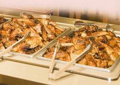 Our Wing Bar - Quicker access to Drummies! Help yourself to up to five varieties of delicious baked chicken wings.