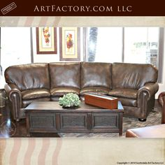 Handmade By Master Craftsmen – 6748 Custom Leather Sofas, Love Seats, And Lounge Chairs Made From The Finest Quality Full Grain Leather And Natural Materials Fine Art Quality Designs By Award Winning Artist H. Nick, Made In The USA By Master Craftsmen Sofa Couch, Couch Set, Custom Sofa, Custom Furniture, Contemporary Sofa, Modern Sofa, Small Corner Couch, Curved Couch, Country Sofas