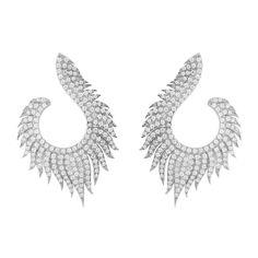 Latelita - Flame Hoop Earrings Silver