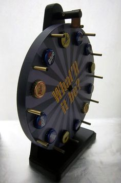 Customizable Beer Lover's Bar Top Bottle Cap Carnival Wheel by HipOGear Leather and More
