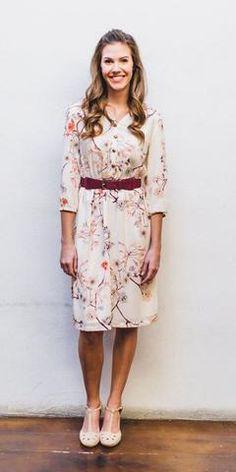 Easton Floral Dress  Modest Fall Fashion Modest Fall Dress Modest Teacher Dress