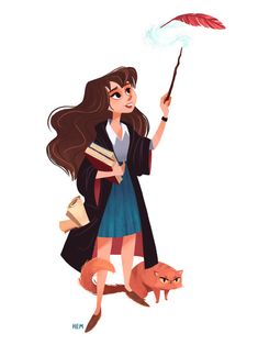 Some of the best fan art of Hermione, and the unique way each artist see and draws her. Fanart Harry Potter, Deco Harry Potter, Theme Harry Potter, Mundo Harry Potter, Harry Potter Artwork, Harry Potter Drawings, Harry Potter Facts, Harry Potter Universal, Harry Potter Fandom