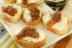 Caramelized Onion & Pork Tenderloin Crostini