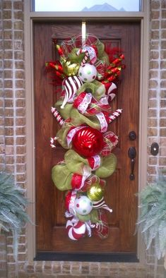 Very large Christmas door swag