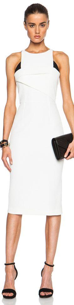 OLAND MOURET ABERSLEY DRESS BLACK WHITE