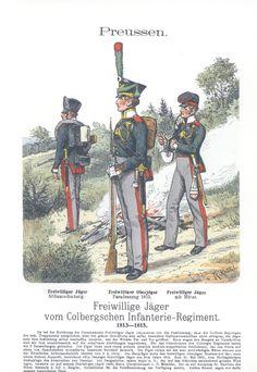 Vol 16 - Pl 41 - Preußen. Freiwillige Jäger vom Colbergschen Infanterie-Regiment. 1813-1815.
