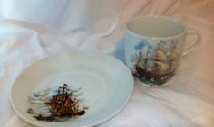 Australian Made Sail Boat Cut and Saucer - FATHERS DAY by OldVintageTreasures2 on Etsy
