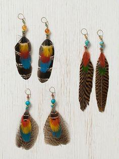 Cruelty Free Feather Earrings Southwestern Earrings Boho Feather Jewelry Beaded Feather Earrings Peacock Feather Earrings