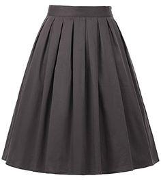 GRACE KARIN 50s Style Casual A-Line Skirts For Women Grey... https://www.amazon.com/dp/B0778Q6ZDR/ref=cm_sw_r_pi_dp_U_x_D2dPAbEKPKHKF