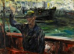"""JACK BUTLER YEATS (Irish 1871-1957) """"THE BREAKER OUT"""" Signed 'JACK B YEATS' bottom right, inscribed with title verso, oil on canvas 20 x 27 in. (50.8 x 68.6cm) #FreemansAuction European Paintings, Contemporary Paintings, Irish Painters, Jack B, Academic Art, Irish Art, Old Master, Butler, Sculpture Art"""