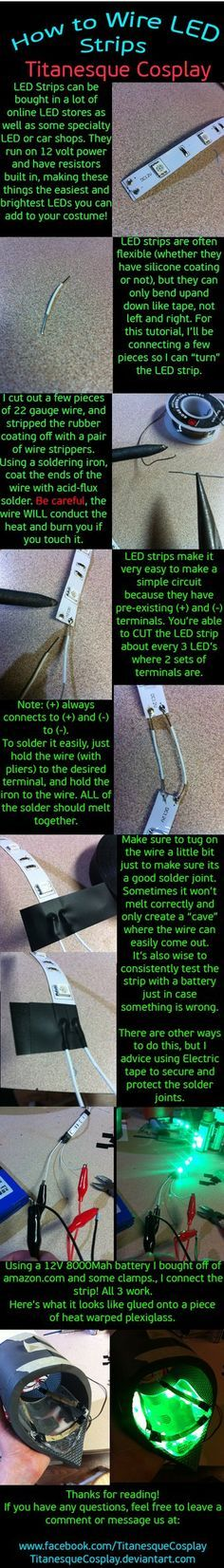 How to wire LED Strips by TitanesqueCosplay on deviantART