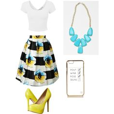 A fashion look from September 2015 by twizzler0106 featuring Steve Madden, Kendra Scott et River Island