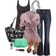lavender, aqua, black #summer outfit