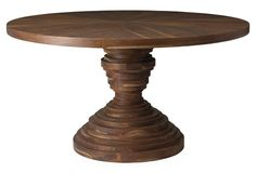 """DINING: Something different... (Elizabeth 54"""" Round Dining Table, Sepia)"""
