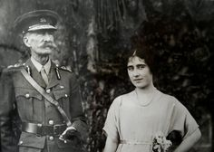 Claude Bowes-Lyon, 14th Earl of Strathmore and Kinghorne, with his daughter Elisabeth