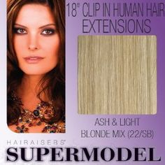 "18"" Clip In Human Hair Extensions Colour 22/SB"