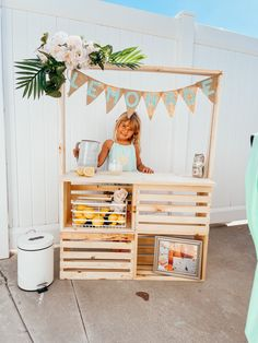Tap to see the Instagram reel on how you can make your own lemonade stand using super simple build ideas! Make Your Own, Make It Yourself, Super Simple, Lemonade, Bed, Furniture, Instagram, Ideas, Home Decor