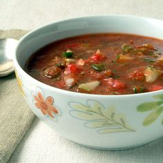 """Summer Day Soup  """"With a whole-grain bread, this soup makes a quick, comforting lunch."""" -Natasha Leigh Yates, Red Wing, MN"""