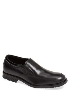 A versatile slip-on of smooth leather is crafted to keep out moisture. The padded footbed provides lightweight shock absorption for all-day comfort. Style Name:Rockport 'Essential Details' Waterproof Loafer (Men). Style Number: Available in stores. Men's Shoes, Dress Shoes, Driving Shoes Men, Rockport Shoes, Mens Slippers, Smooth Leather, Giuseppe Zanotti, Clarks