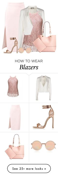 """""""rose gold spring"""" by rvazquez on Polyvore featuring MSGM, LIU•JO, Calvin Klein, Linda Farrow and River Island"""