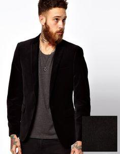 Shop ASOS Slim Fit Blazer In Velvet at ASOS. Blazer, Vintage Groom, Asos, Sports Jacket, Vintage Looks, Dapper, Suit Jacket, Velvet, Slim