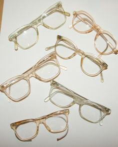3889093538 Clear framed 1950s and 60s NHS spectacles. Available to hire from  sophiemillard.com 1980s