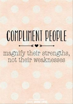 People shouldn't point out all of the negatives on someone when they think they don't care but they do.What's the point of keeping compliments to yourself? Give them away and make someone's day (: The Words, Cool Words, Positive Vibes, Positive Quotes, Motivational Quotes, Inspirational Quotes, Positive Thoughts, Great Quotes, Quotes To Live By