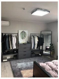 Men's Bedroom Design, Bedroom Setup, Apartment Bedroom Decor, Home Room Design, Small Room Bedroom, Home Bedroom, Bedroom Storage, Small Rooms, Men Apartment