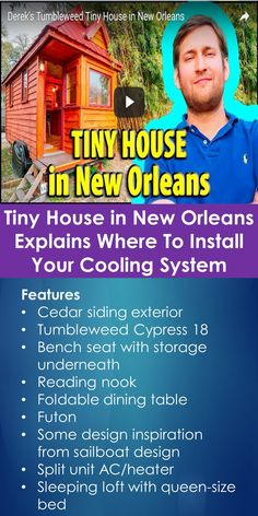 Tiny House in New Orleans Explains Where To Install Your Cooling System   Tiny Quality Homes