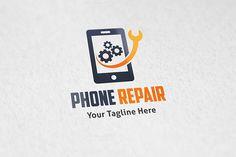 Check out Phone Repair - Logo Template by Martin-Jamez on Creative Market Badge Template, Logo Templates, Mobile Phone Logo, Music Festival Logos, Service Logo, Phone Service, Construction Logo, Shop Logo, Logo Color