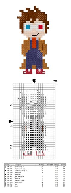 Free Doctor Who 10th Doctor pattern from CraftTimeinArkham on Etsy! Allons-y!