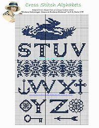 Alphabet with cutouts, plus a lot of nice motifs...I can see the bunny stitched on the curve of an egg.
