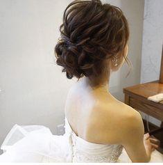 hair/yuudai◆make/rie ________________________________ 今日は埼玉へ 楽. - Elizabeth B. Bridal Hairdo, Hairdo Wedding, Wedding Hair And Makeup, Hair Makeup, Korean Wedding Hair, High Bun Hairstyles, Short Hairstyles Over 50, Bride Hairstyles, Trendy Hairstyles