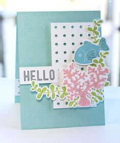 Linen Background, Sea Life, Pegboard Cover-Up Die-namics, Sea Life Die-namics - Lisa Johnson #mftstamps