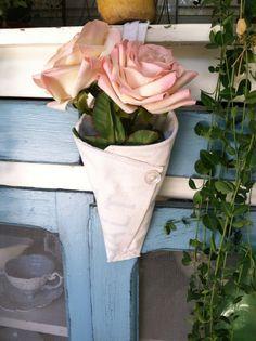 Vintage salt sack flower cone on Etsy, $11.50
