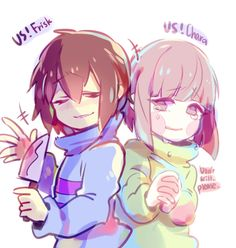 Underswap Frisk and Chara