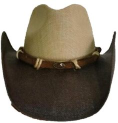 3a1c5659963 RUSTY Austin Jute Straw Cowboy Hat with Pinchfront Crown. The Cowboy Hats