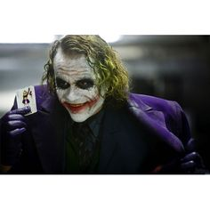 The Joker Dark Knight Movie Holding Joker Card Gallery Print