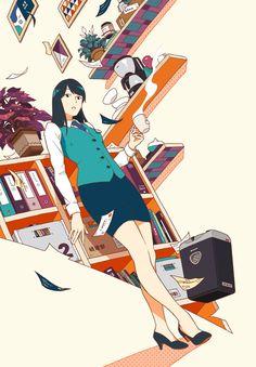 集英社『これは経費で落ちません!2 ~経理部の森若さん~』(著:青木祐子) 装画 I drew the cover illustration for the novel by Yuko Aoki, published by Shueisha Inc. Previous work