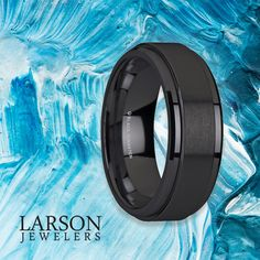 A bold modern design with a spin.  The REVOLVE BLACK TUNGSTEN BRUSHED FINISHED SPINNER RING POLISHED BASE SPINNING WEDDING BAND is a great alternative to the classic wedding band.   Click here to see this ring! Tungsten Wedding Rings, Spinner Rings, Spinning, Wedding Bands, Modern Design, Alternative, Base, Classic, Hand Spinning