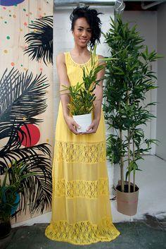 Yellow Maxi Dress, by panda_head, via Flickr