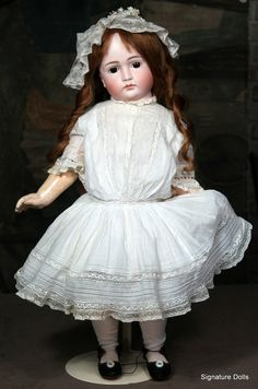 Early Kestner Pouty Child in all Antique Clothing~25""