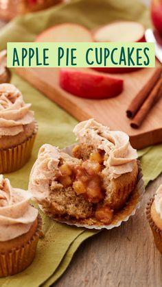 Apple Desserts, Apple Recipes, Just Desserts, Fall Recipes, Delicious Desserts, Cupcake Flavors, Cupcake Recipes, Dessert Recipes, Mini Cakes