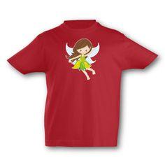 Kinder T-Shirt Fliegende Fee. T-Shirt Fliegende Fee, kurze Arme, Flexdruck