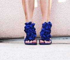 DIY shoe ruffles @Abigail Carlson see?