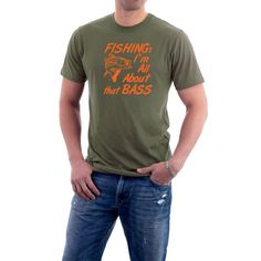 Fishing : I'm All About that Bass T-shirt. Funny by SillyTees