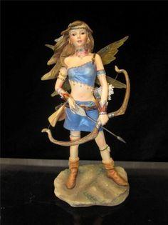 Faerie Glen Curadream Retired Guardian Of The Glen Figurine Fairy Figurine