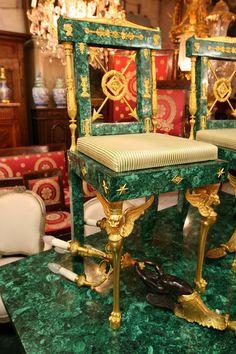 Malachite Chair on Desk