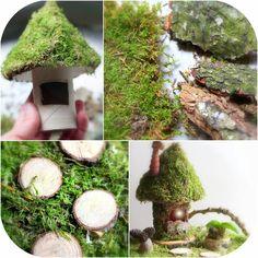 Daily Colours : Fairy Houses - Moss Fairy House